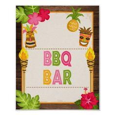 Luau BBQ Bar Sign