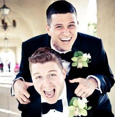 Exstatic Grooms #gaylove gaymarriage #gaywedding