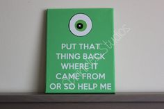 lol this is adorable. monsters inc.