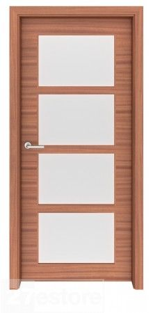 Looking for an 8 ft. modern door solution? Fulfill your requirement with this Sapele Mahogany Glass Interior Door Denver