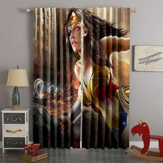 D Printed Wonder Woman Style Custom Living Room Curtains – Westbedding