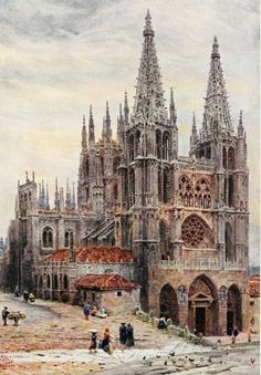 Catedral de Burgos-Cathedral cities of Spain William Wiehe Collins Cathedral City, Barcelona Cathedral, Arte Horror, Gothic Art, Architecture Details, Scenery, Places To Visit, Around The Worlds, Building