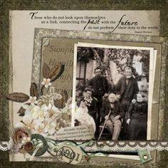 Hamilton Family, 1901 ~ monochromatic heritage digi page.