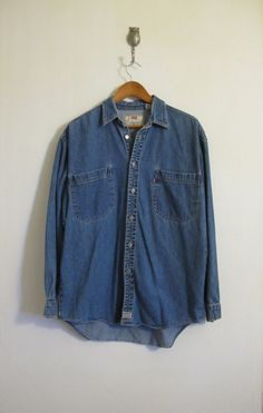 Vintage Men's LEVIS Denim ButtonUp by downhomehoney on Etsy, $18.00