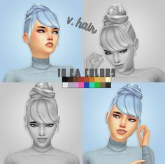 Sims 4 CC's - The Best: Hair  by Crazy Cupcake