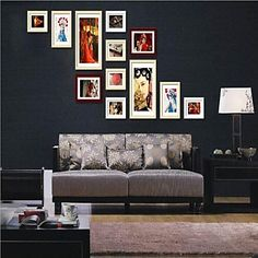 Brown Photo Wall Frame Collection Set of 12 - CAD $ 107.19