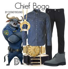 """""""Chief Bogo"""" by leslieakay ❤ liked on Polyvore featuring Paul Smith, Nixon, Levi's, Calvin Klein Jeans, Missoma, men's fashion, menswear, disney, disneybound and zooopia"""