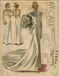The Midvale Cottage Post: Exquisite 1930s Bridal Gown