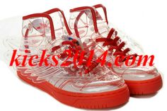 Mens Originals Adidas Obyo Jeremy Scott Wings Pure Red Shoes
