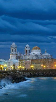 Anochecer en Cádiz