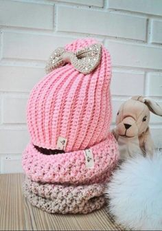 Knitting patterns for kids hats yarns 25 ideas Crochet Baby Beanie, Crochet Kids Hats, Crochet Baby Shoes, Crochet Gifts, Baby Knitting, Hat Crochet, Baby Hut, Knitting Patterns, Crochet Patterns