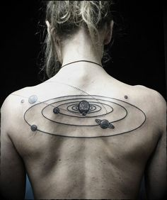 30 Examples of Solar System Tattoo | Cuded