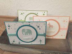 Stampin Up, Baby Karte, Kinderkarte, Kids Card, Zoo Babys, Perpetual Birthday Calender, Famose Fähnchen