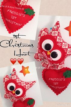 Personalised Christmas Hootlet Decorations .. ❤️