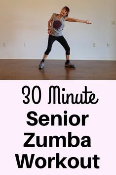 This 30 minute senior Zumba workout will take your mind to a fun place all while doing your body a world of good and relieving stress. Zumba Fitness, Fitness Video, Fitness Workout For Women, Senior Fitness, Health Fitness, Senior Workout, Wellness Fitness, Easy Workouts, At Home Workouts