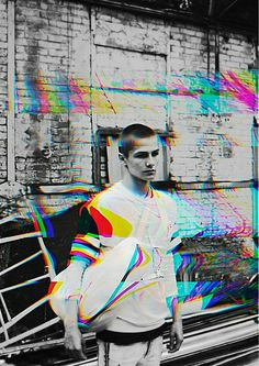 Another - bundenko print & collage artist - is this glitch art or just the aesthetic? Glitch Art, Glitch Kunst, Glitch Effect, Design Trends 2018, Graphic Design Trends, Graphic Design Inspiration, Matthieu Bourel, Art Photography, Fashion Photography