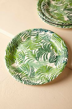 Tropical Palms Paper Plates (12) & Tropical Palms Paper Napkins (20) from @BHLDN | Autumn Bliss ...