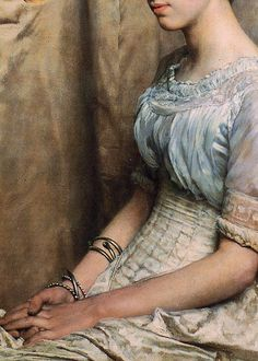 Miss Alice Lewis by Sir Lawrence Alma-Tadema, 1884 (detail)