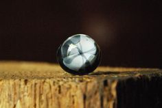 Black & White Round Resin Ring  Adjustable by ResinRings on Etsy