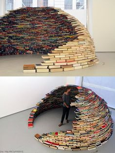 Funny pictures about An igloo made of books. Oh, and cool pics about An igloo made of books. Also, An igloo made of books photos. Book Organization, Book Storage, Book Nooks, Reading Nooks, I Love Books, Book Nerd, 4th Of July Wreath, Decoration, Book Lovers