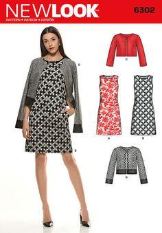 Misses' Sleeveless Dress and Jackets