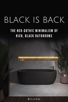 Dramatic black bathroom decor is big this year! Luxury bathroom design, with black Marquina marble, Corian® in Deep Nocturne, paired with dark tiles and floors is right on trend. Read on for ideas and inspiration on how to bring the dark interior design trend into your bathroom remodelling project.  #riluxa #bathroom #bathroomdecor #remodel #modernbathrooms #blackbathroom Black Bathroom Decor, Small Bathroom, Ikea Bathroom, Master Bathroom, Small Kitchen Storage, Modern Baths, Bathroom Design Luxury, Dark Interiors, Minimalist Bathroom