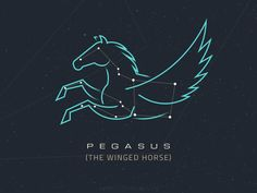 Constellations - Pegasus by Csaba Gyulai #Design Popular #Dribbble #shots