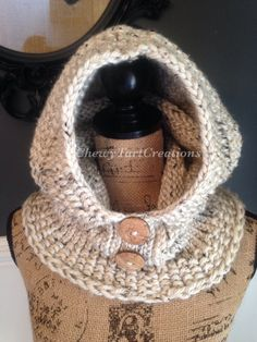 Adult Cozy hooded cowl..  https://www.etsy.com/shop/ChewyTartCreations