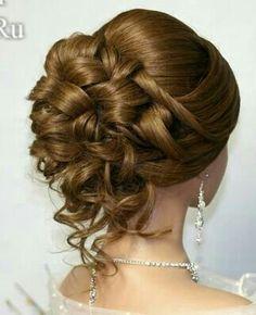 s - beautiful hair styles for wedding Wedding Hairstyles For Women, Elegant Hairstyles, Up Hairstyles, Pretty Hairstyles, Wedding Hair And Makeup, Hair Makeup, Mother Of The Bride Hair, Hair Upstyles, Romantic Wedding Hair