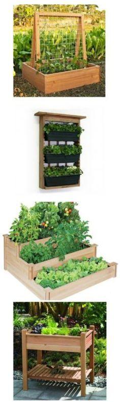 Tips and Benefits of Gardening in Raised Gardens   theidearoom.net #ebay