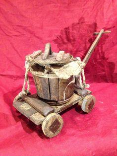 Venditore di spighe ambulante con ruote . Bancarella misure = 17 cm x 13cm x 15 cm h . Piu accessori come da foto .