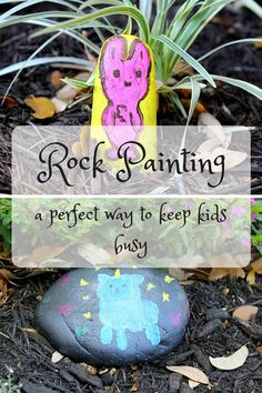 Rock Painting - House of Faucis Painting For Kids, Rock Painting, House Painting, Craft Activities For Kids, Crafts For Kids, Rock Decor, Simple Pictures, Best Rock, Girl Decor