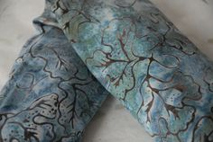 Heat Pack  Aqua Blue Batik by WeAreHisClay on Etsy