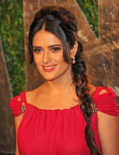Salma Hayek's Long Braid - Haute Hairstyles for Women Over 40 - Photos