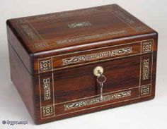 """this mini Victorian chest box is where Cecily keeps all of her letters that algernon has """"written"""" to her."""