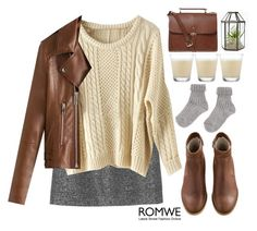"""#Romwe"" by credentovideos ❤ liked on Polyvore featuring Monki, A.P.C. and Paul Costelloe"