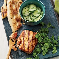 Tandoori Salmon... An intensely spiced Indian-style marinade is delicious with rich, fatty fish like salmon.