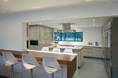 Kitchen Island, Breakfast Bar, Modern Retreat in Davie, Florida