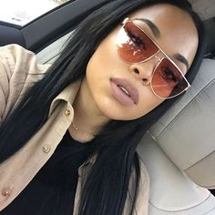 """""""Fresh sew in from my sis Using her bomb ass hair : Glasses: """"shiba"""" Lip: Candy K"""" Heather Sanders, Kylie Lip Kit, Interesting Faces, Black Is Beautiful, Gorgeous Women, Black Girl Magic, Sunglasses Women, Hair Beauty, Glamour"""