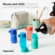 Perfect size for salad dressing! Tupperware Consultant, Tupperware Recipes, Cool Things To Buy, Awesome Things, Dishwashing Liquid, Body Wash, Soy Milk, Cordial, Lactose Free