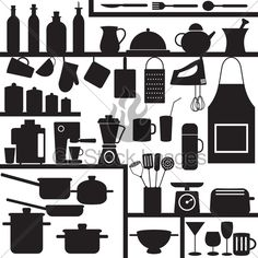 Superior Various Isolated Kitchen Related Objects And Appliances
