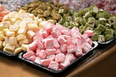 Turkish Delight Turkish Delight, Potato Salad, Raspberry, Candy, Meat, Fruit, Ethnic Recipes, Food, Sweets