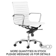 Eames Management Chair White overview Eames Aluminum Group