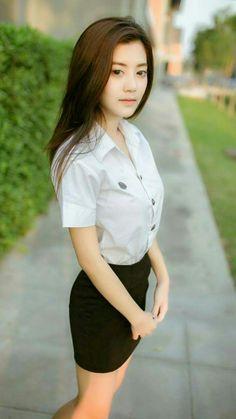 Asian teen girls skirt
