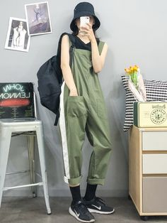 Korean Fashion Trends you can Steal – Designer Fashion Tips Boyish Outfits, Moda Outfits, Retro Outfits, Casual Outfits, Cute Outfits, Fashion Outfits, Korean Fashion Trends, Korean Street Fashion, Korea Fashion