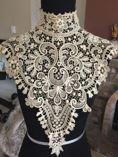in Antiques, Linens & Textiles Lace, Crochet & Doilies Victorian Collar, Victorian Lace, Antique Lace, Vintage Lace, Victorian Fashion, Victorian Pattern, Rose Shabby Chic, Vintage Outfits, Crochet Collar
