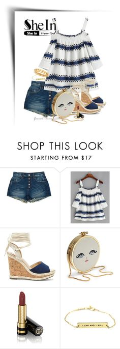 """""""She-in top"""" by grachy ❤ liked on Polyvore featuring BLANKNYC, Sole Society, Gucci, Kate Spade and Sheinside"""