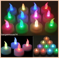 Multi color #changing led tea lights #candles #battery operated party decor #candl, View more on the LINK: http://www.zeppy.io/product/gb/2/131963314457/