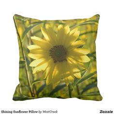 Shining Sunflower Pillow