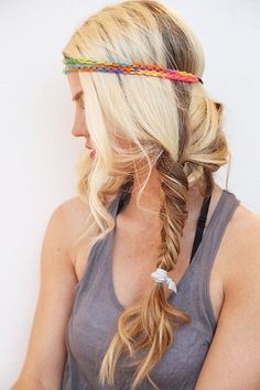 Boho hairstyle idea for long hair   #Cowgirl #Hairstyle #CowgirlHairstyle   http://www.islandcowgirl.com/